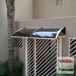سایبان پلی کربنات درب